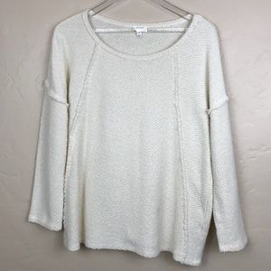 Joie Pullover Cream Sweater Size Small